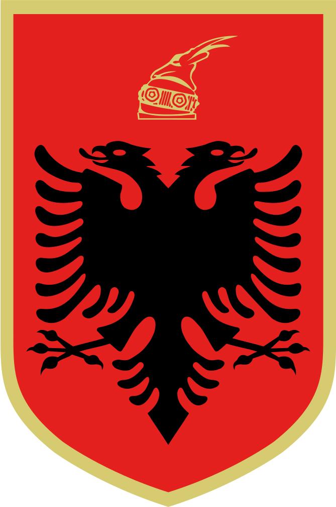 Albania, dwugłowy czarny orzeł to godło kraju
