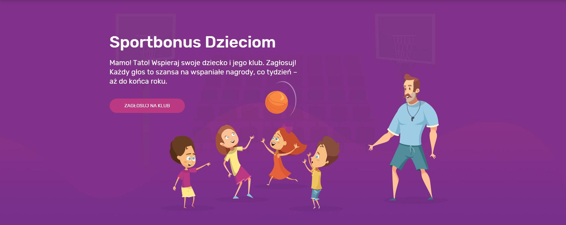 Dowiedz się więcej o akcji Sportbonus Dzieciom i zagłosuj na klub!