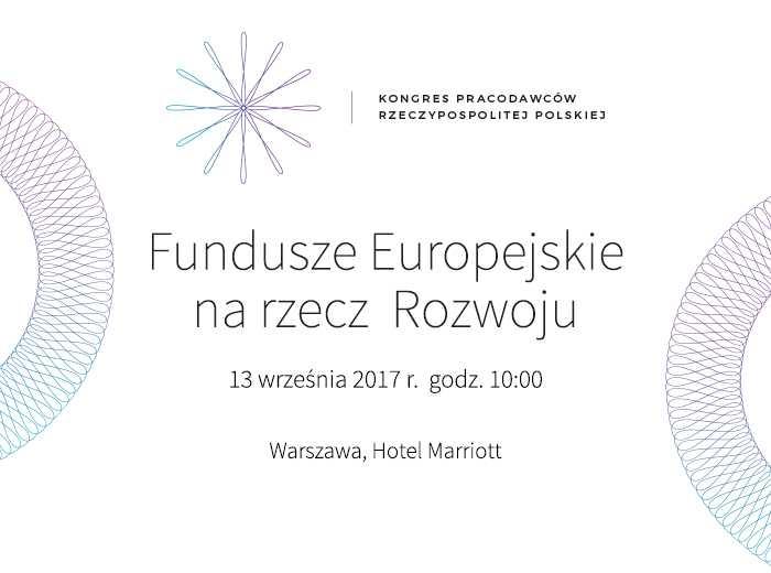 Fundusze Europejskie na rzecz Rozwoju, 13 września